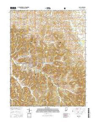 Paoli Indiana Current topographic map, 1:24000 scale, 7.5 X 7.5 Minute, Year 2016