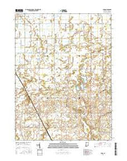 Parr Indiana Current topographic map, 1:24000 scale, 7.5 X 7.5 Minute, Year 2016 from Indiana Maps Store