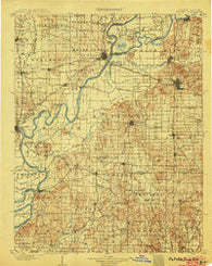 Patoka Indiana Historical topographic map, 1:125000 scale, 30 X 30 Minute, Year 1903