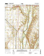 Perrysville Indiana Current topographic map, 1:24000 scale, 7.5 X 7.5 Minute, Year 2016 from Indiana Map Store
