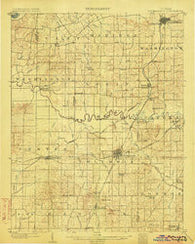Petersburg Indiana Historical topographic map, 1:62500 scale, 15 X 15 Minute, Year 1903