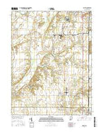 Pimento Indiana Current topographic map, 1:24000 scale, 7.5 X 7.5 Minute, Year 2016 from Indiana Map Store