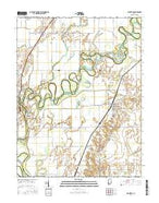 Plainville Indiana Current topographic map, 1:24000 scale, 7.5 X 7.5 Minute, Year 2016 from Indiana Map Store