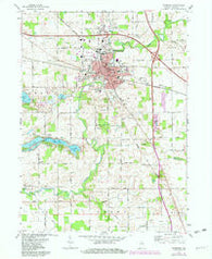 Plymouth Indiana Historical topographic map, 1:24000 scale, 7.5 X 7.5 Minute, Year 1972