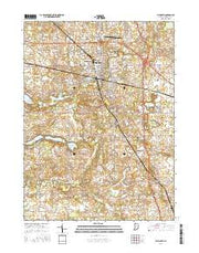 Plymouth Indiana Current topographic map, 1:24000 scale, 7.5 X 7.5 Minute, Year 2016 from Indiana Maps Store