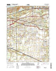 Portage Indiana Current topographic map, 1:24000 scale, 7.5 X 7.5 Minute, Year 2016 from Indiana Maps Store