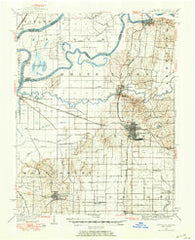 Princeton Indiana Historical topographic map, 1:62500 scale, 15 X 15 Minute, Year 1901