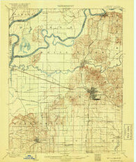Princeton Indiana Historical topographic map, 1:62500 scale, 15 X 15 Minute, Year 1903