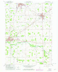 Redkey Indiana Historical topographic map, 1:24000 scale, 7.5 X 7.5 Minute, Year 1960