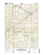 Redkey Indiana Current topographic map, 1:24000 scale, 7.5 X 7.5 Minute, Year 2016 from Indiana Map Store