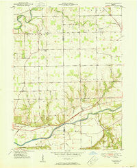 Richvalley Indiana Historical topographic map, 1:24000 scale, 7.5 X 7.5 Minute, Year 1951