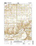 Richvalley Indiana Current topographic map, 1:24000 scale, 7.5 X 7.5 Minute, Year 2016 from Indiana Map Store