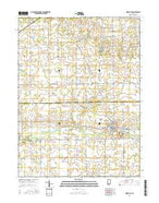 Ridgeville Indiana Current topographic map, 1:24000 scale, 7.5 X 7.5 Minute, Year 2016 from Indiana Map Store