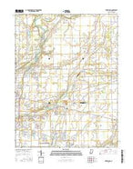 Riverwood Indiana Current topographic map, 1:24000 scale, 7.5 X 7.5 Minute, Year 2016 from Indiana Map Store