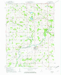 Roann Indiana Historical topographic map, 1:24000 scale, 7.5 X 7.5 Minute, Year 1961