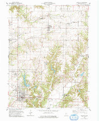 Rockville Indiana Historical topographic map, 1:24000 scale, 7.5 X 7.5 Minute, Year 1978