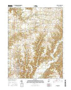 Rockville Indiana Current topographic map, 1:24000 scale, 7.5 X 7.5 Minute, Year 2016 from Indiana Map Store