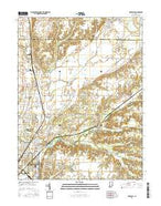 Rosedale Indiana Current topographic map, 1:24000 scale, 7.5 X 7.5 Minute, Year 2016 from Indiana Map Store