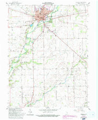 Rushville Indiana Historical topographic map, 1:24000 scale, 7.5 X 7.5 Minute, Year 1959