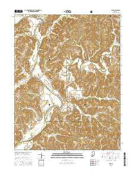 Rusk Indiana Current topographic map, 1:24000 scale, 7.5 X 7.5 Minute, Year 2016