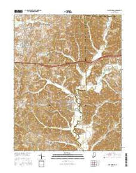 Saint Meinrad Indiana Current topographic map, 1:24000 scale, 7.5 X 7.5 Minute, Year 2016
