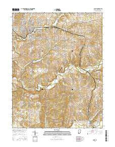 Salem Indiana Current topographic map, 1:24000 scale, 7.5 X 7.5 Minute, Year 2016