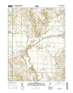 Saline City Indiana Current topographic map, 1:24000 scale, 7.5 X 7.5 Minute, Year 2016 from Indiana Map Store