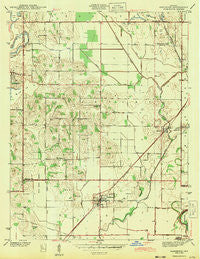 Sandborn Indiana Historical topographic map, 1:24000 scale, 7.5 X 7.5 Minute, Year 1943