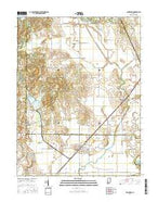 Sandborn Indiana Current topographic map, 1:24000 scale, 7.5 X 7.5 Minute, Year 2016 from Indiana Map Store