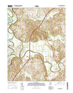 Sandy Hook Indiana Current topographic map, 1:24000 scale, 7.5 X 7.5 Minute, Year 2016 from Indiana Map Store