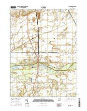 Schneider Indiana Current topographic map, 1:24000 scale, 7.5 X 7.5 Minute, Year 2016 from Indiana Maps Store