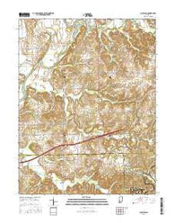 Scotland Indiana Current topographic map, 1:24000 scale, 7.5 X 7.5 Minute, Year 2016