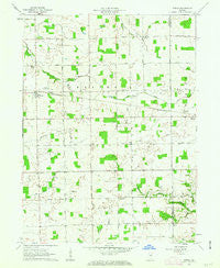 Servia Indiana Historical topographic map, 1:24000 scale, 7.5 X 7.5 Minute, Year 1961