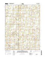 Shirley Indiana Current topographic map, 1:24000 scale, 7.5 X 7.5 Minute, Year 2016 from Indiana Map Store