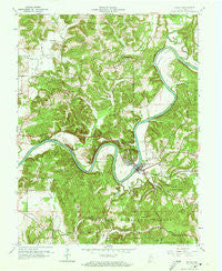 Shoals Indiana Historical topographic map, 1:24000 scale, 7.5 X 7.5 Minute, Year 1960