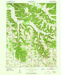 Smedley Indiana Historical topographic map, 1:24000 scale, 7.5 X 7.5 Minute, Year 1951
