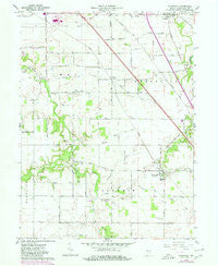 Stockwell Indiana Historical topographic map, 1:24000 scale, 7.5 X 7.5 Minute, Year 1961