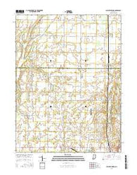 Sulphur Springs Indiana Current topographic map, 1:24000 scale, 7.5 X 7.5 Minute, Year 2016
