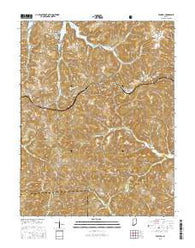 Taswell Indiana Current topographic map, 1:24000 scale, 7.5 X 7.5 Minute, Year 2016