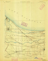 Toleston Indiana Historical topographic map, 1:62500 scale, 15 X 15 Minute, Year 1900