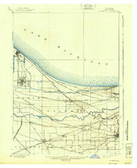 Tolleston Indiana Historical topographic map, 1:62500 scale, 15 X 15 Minute, Year 1900