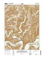 Tunnelton Indiana Current topographic map, 1:24000 scale, 7.5 X 7.5 Minute, Year 2016 from Indiana Map Store