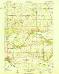Twelve Mile Indiana Historical topographic map, 1:24000 scale, 7.5 X 7.5 Minute, Year 1951