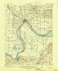 Uniontown Kentucky Historical topographic map, 1:62500 scale, 15 X 15 Minute, Year 1917