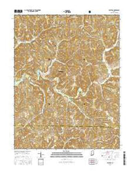 Valeene Indiana Current topographic map, 1:24000 scale, 7.5 X 7.5 Minute, Year 2016