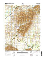 Vallonia Indiana Current topographic map, 1:24000 scale, 7.5 X 7.5 Minute, Year 2016 from Indiana Map Store