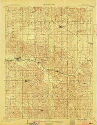 Velpen Indiana Historical topographic map, 1:62500 scale, 15 X 15 Minute, Year 1903