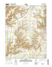 Versailles Indiana Current topographic map, 1:24000 scale, 7.5 X 7.5 Minute, Year 2016 from Indiana Maps Store