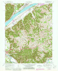Vevay South Indiana Historical topographic map, 1:24000 scale, 7.5 X 7.5 Minute, Year 1967