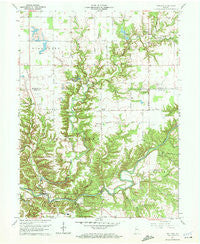 Wallace Indiana Historical topographic map, 1:24000 scale, 7.5 X 7.5 Minute, Year 1961
